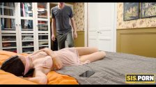 SIS. PORN. Cunning buddy fucks cute stepsis while her BF isnt at home